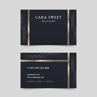 Elegante luxus-visitenkarte