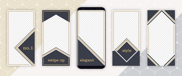 Elegante luxusschablone instagram-geschichte