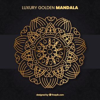 Elegante mandala mit luxus-stil
