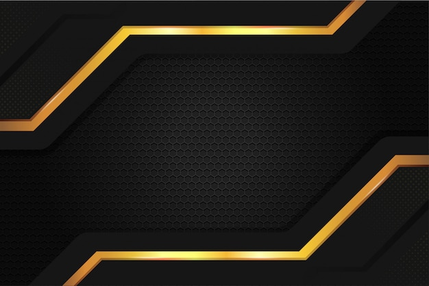 Elegante metallstahl-hintergrundtapete in der farbe schwarzgold