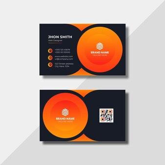 Elegante minimale und abstrakte visitenkartenvorlage