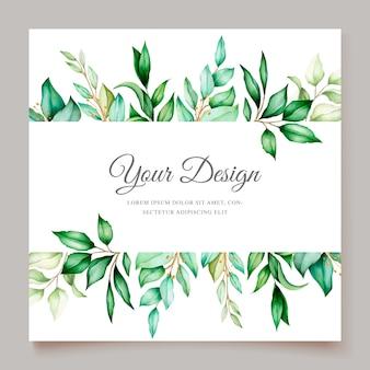 Elegante minimalistische blumenhochzeitseinladungsschablone