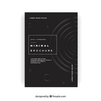 Elegante minimalistische broschüre