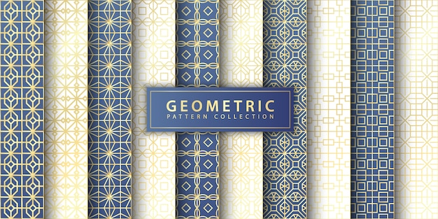 Elegante nahtlose geometrische mustersammlung