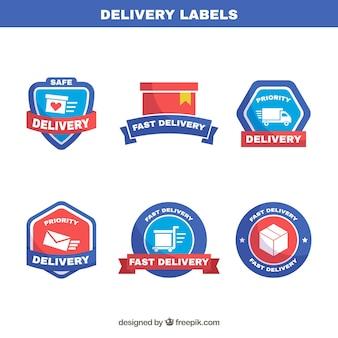 Elegante packung mit etiketten