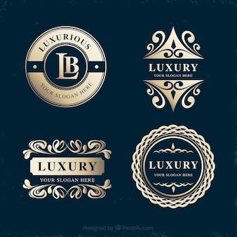 Elegante Packung mit Vintage-Logo-Vorlagen