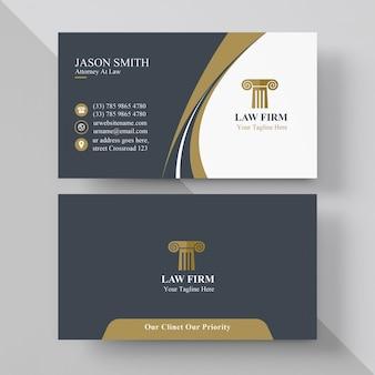 Elegante rechtsanwalt-visitenkarte
