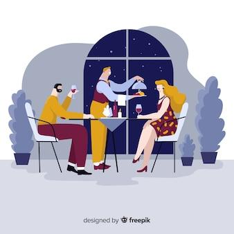 Elegante restaurantkomposition