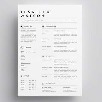 Elegante resume-vorlage
