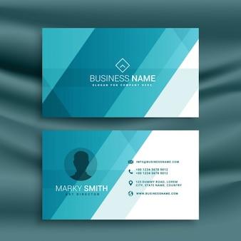 Elegante saubere blaue visitenkarte design in minimalen stil