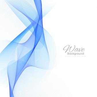 Elegante stilvolle blaue welle hintergrund