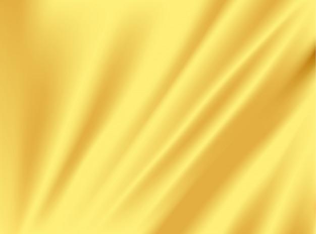 Elegante stofffalte aus gold und seide auf konzeptdesign