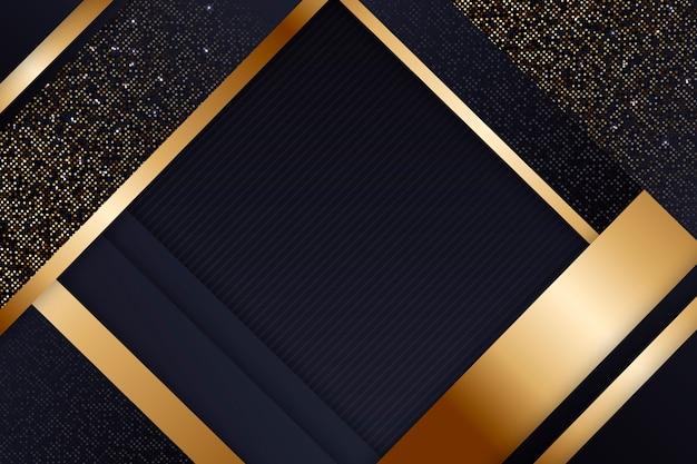 Elegante tapete mit goldenen details