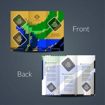 Elegante tri-fach broschüre vorlage