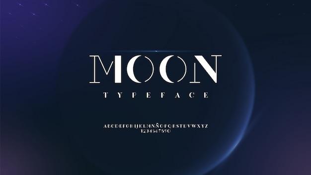 Elegante typografie mit planetarischen effekten