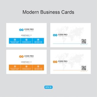 Elegante unternehmenskarte