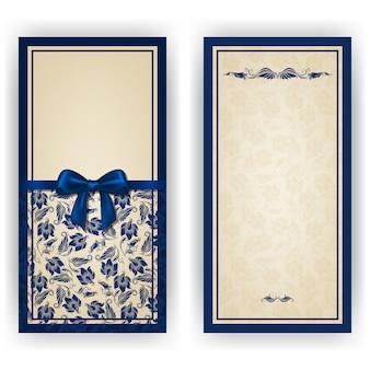 Elegante vektorschablone für luxuseinladung, karte