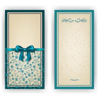 Elegante vektorschablone für luxuseinladungskarte