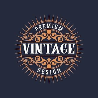 Elegante vintage logo-designvorlage von abstrackck