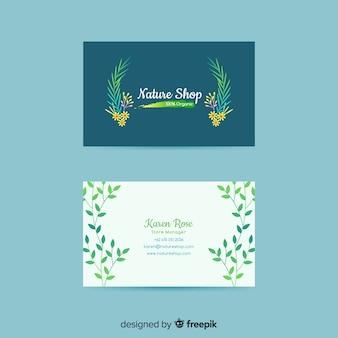 Elegante visitenkarte der schablone