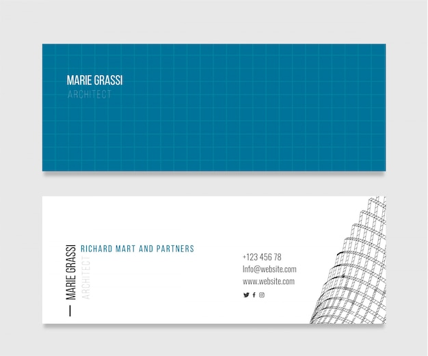Elegante visitenkarte für architekten