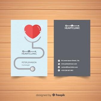 Elegante visitenkarte mit medizinischem konzept