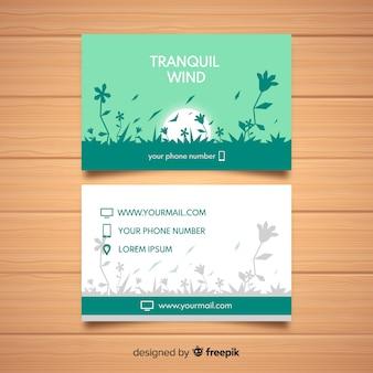 Elegante visitenkarte mit natur design