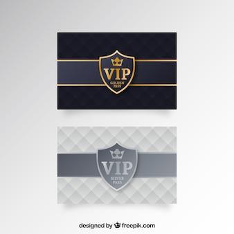 Elegante visitenkarte mit vip-stil