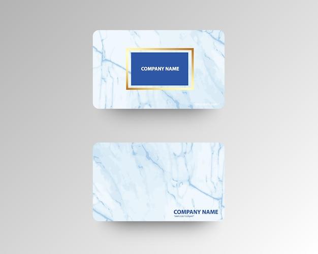 Elegante visitenkarten mit marmorbeschaffenheit und gold