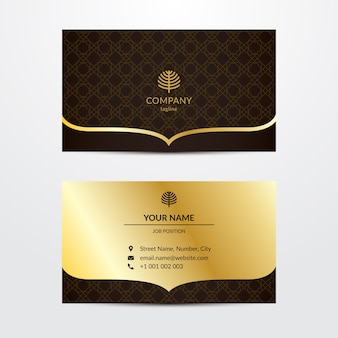 Elegante vorlage für visitenkarte