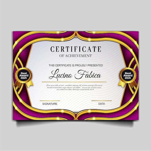 Elegante vorlage für zertifikatserfolge
