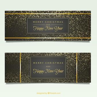 Elegante weihnachten und neujahr banner