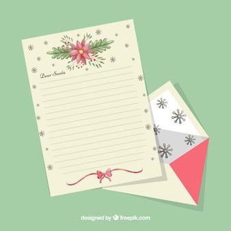 Elegante weihnachtsbriefschablone