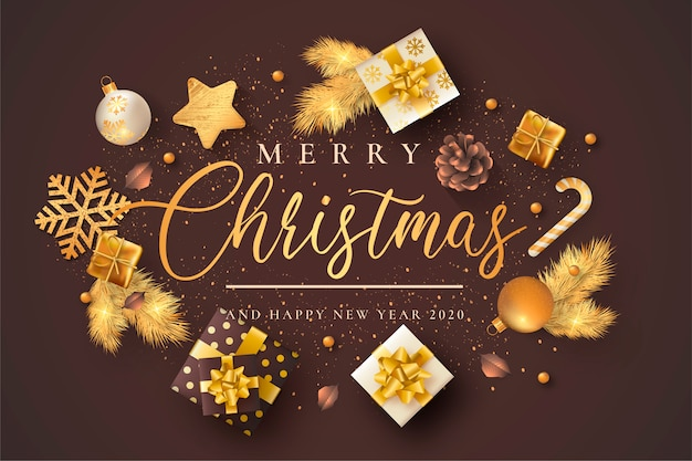 Elegante weihnachtskarte mit brown u. beige verzierungen