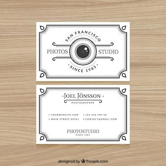 Elegante weiße visitenkarte für die fotografie