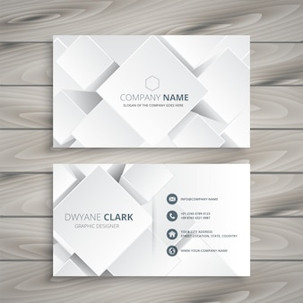 Elegante weiße Visitenkarte mit Formen 3d