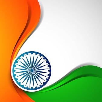 Elegante welle des abstrakten indischen flaggenthemas