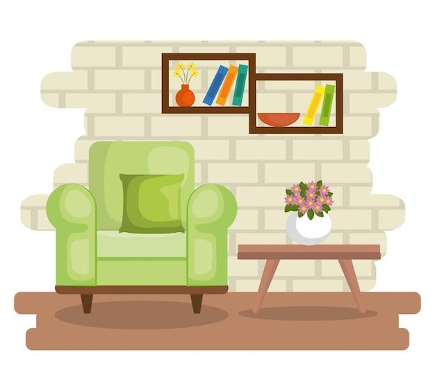 Elegante wohnzimmerszene