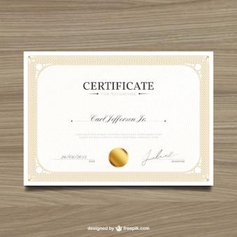Elegante zertifikat