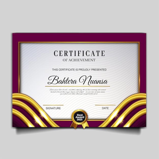 Elegante zertifikatsleistungsvorlage