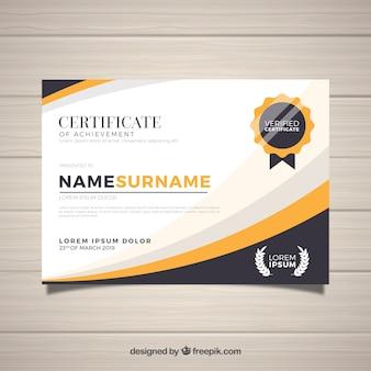 Elegante zertifikatvorlage