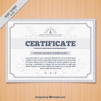 Elegante zier zertifikat