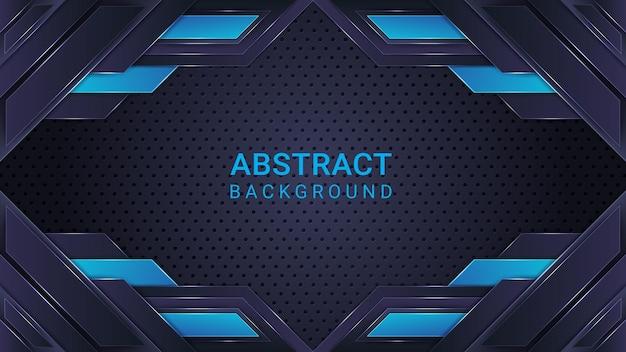 Eleganter abstrakter hintergrund in cyan und blau mit farbverlauf