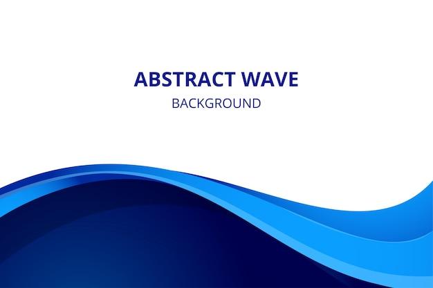 Eleganter abstrakter hintergrund mit blauer wellenflussform
