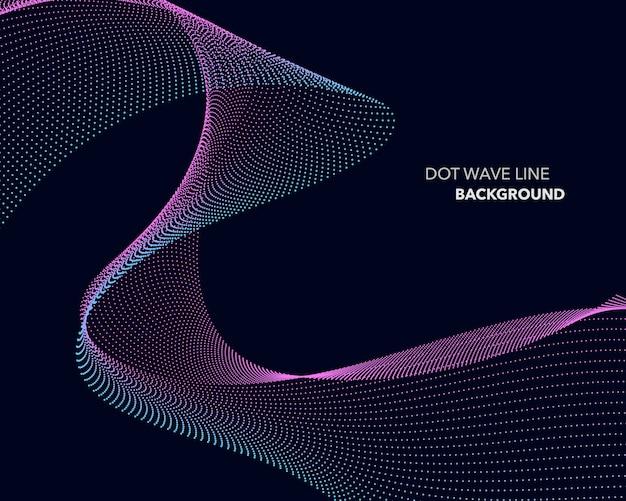 Eleganter abstrakter punktwellenlinienfuturistischer stilhintergrund