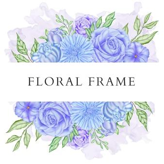Eleganter aquarellblumenrahmenhintergrund