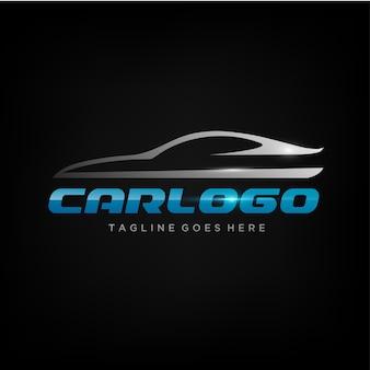 Eleganter auto-logo-entwurf