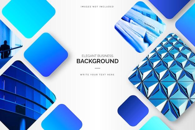 Eleganter blauer geschäftshintergrund