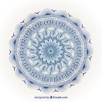 Eleganter blauer mandalahintergrund