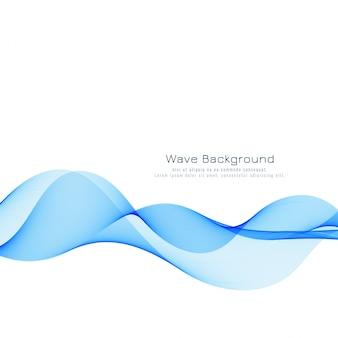 Eleganter blauer wellenhintergrund